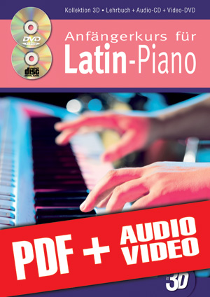 Anfängerkurs für Latin-Piano in 3D (pdf + mp3 + videos)