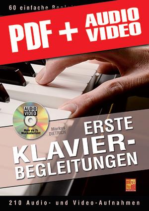 Erste Klavier-Begleitungen (pdf + mp3 + videos)