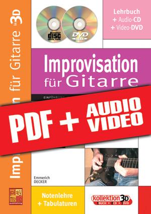 Improvisation für Gitarre in 3D (pdf + mp3 + videos)