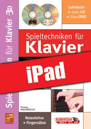 Spieltechniken für Klavier in 3D (iPad)