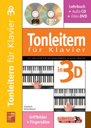 Tonleitern für Klavier in 3D