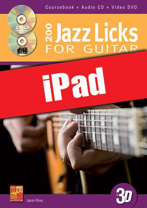 200 Jazz Licks for Guitar in 3D (iPad)