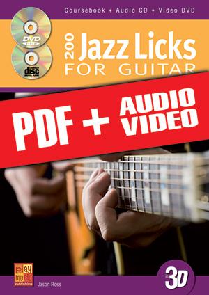 200 Jazz Licks for Guitar in 3D (pdf + mp3 + videos)