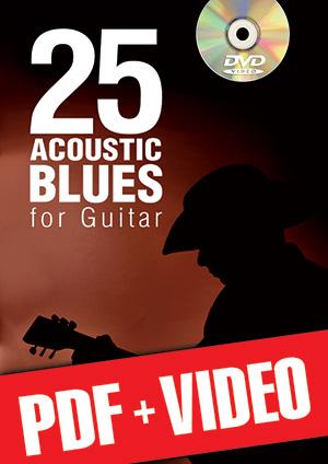 25 Acoustic Blues for Guitar (pdf + videos)