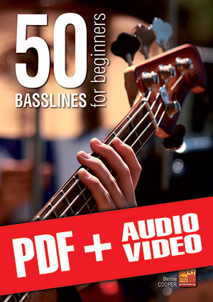 50 Basslines for Beginners (pdf + mp3 + videos)