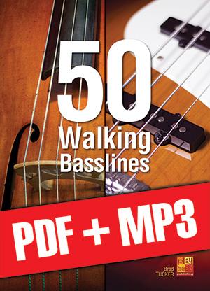 50 Walking Basslines (pdf + mp3)