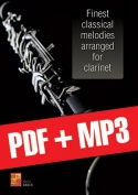 Finest classical melodies arranged for clarinet (pdf + mp3)