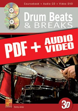Drum Beats & Breaks in 3D (pdf + mp3 + videos)