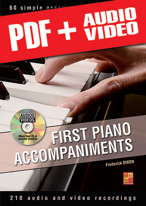 First Piano Accompaniments (pdf + mp3 + videos)