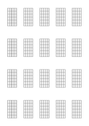 Guitar (6-fret diagrams)