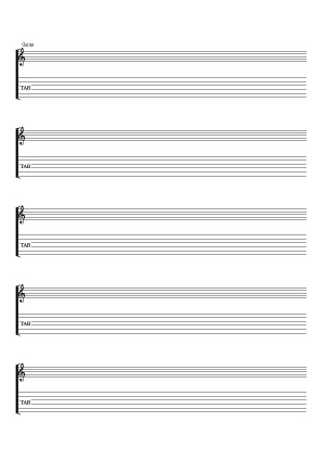 Guitar (scores & tablatures) / (score and tab notation)